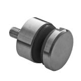 Glas-Punkthalter Ø 30 mm V4A für Anschluss flach/gerade