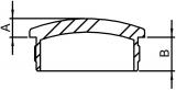 Stopfen leicht gewölbt V2A Vollmaterial für Ø 42,4x2,0 mm