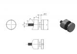 Glas-Punkthalter Ø 30 mm V2A für Anschluss Ø 33,7 mm
