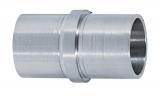 Verbinder Muffe V2A für Rundrohr Ø 33,7x2,0 mm