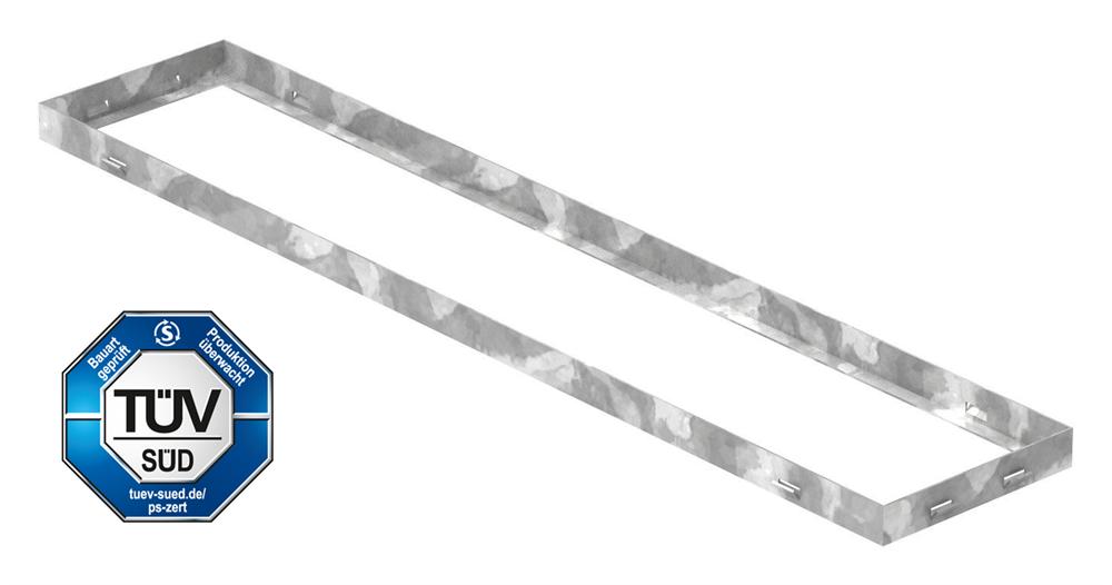 Zarge | Maße: 200x1000x33 mm | für Rosthöhe 30 mm | aus S235JR (St37-2), bandverzinkt