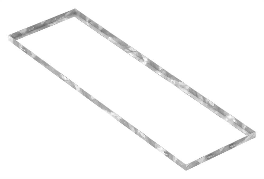 Zarge | Maße: 300x1000x23 mm | für Rosthöhe 20 mm | aus S235JR (St37-2), bandverzinkt