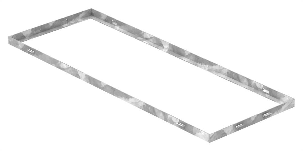 Zarge | Maße: 300x800x23 mm | für Rosthöhe 20 mm | aus S235JR (St37-2), bandverzinkt