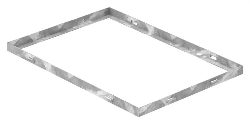 Zarge | Maße: 350x500x23 mm | für Rosthöhe 20 mm | aus S235JR (St37-2), bandverzinkt