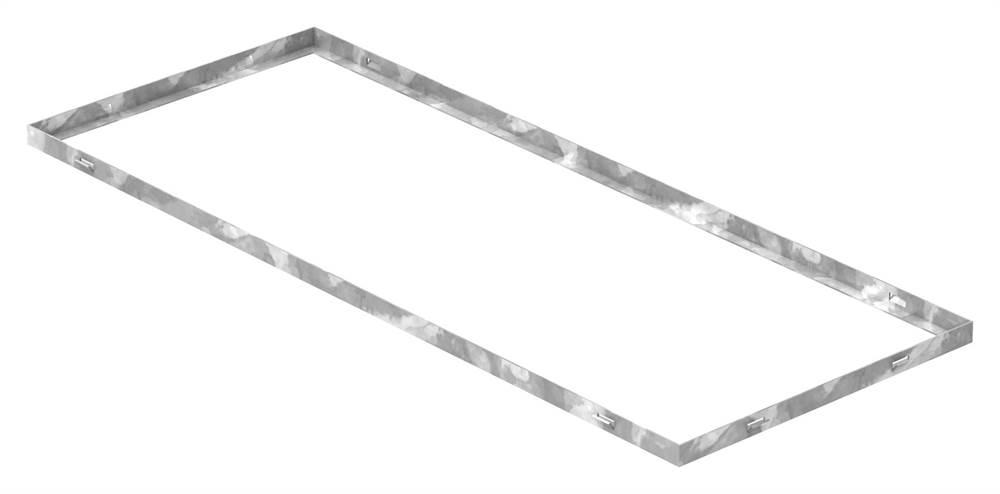 Zarge | Maße: 400x1000x23 mm | für Rosthöhe 20 mm | aus S235JR (St37-2), bandverzinkt