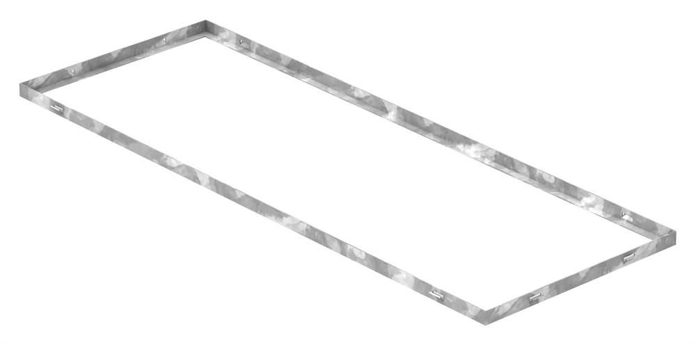 Zarge | Maße: 400x1100x23 mm | für Rosthöhe 20 mm | aus S235JR (St37-2), bandverzinkt