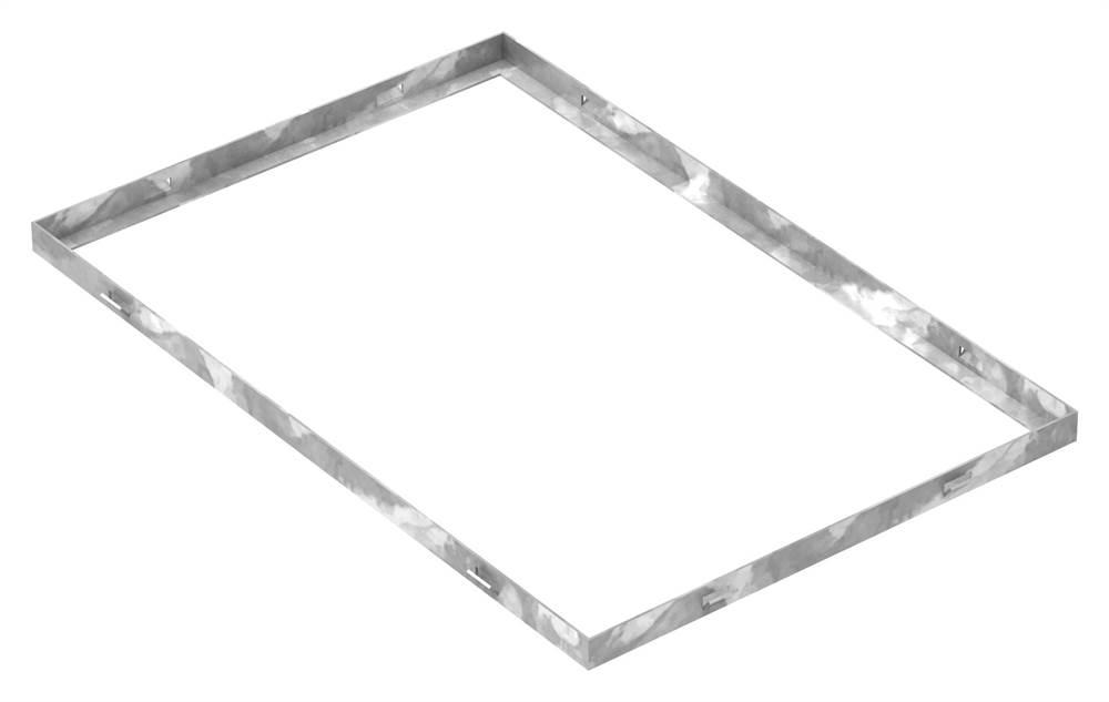 Zarge | Maße: 400x600x23 mm | für Rosthöhe 20 mm | aus S235JR (St37-2), bandverzinkt