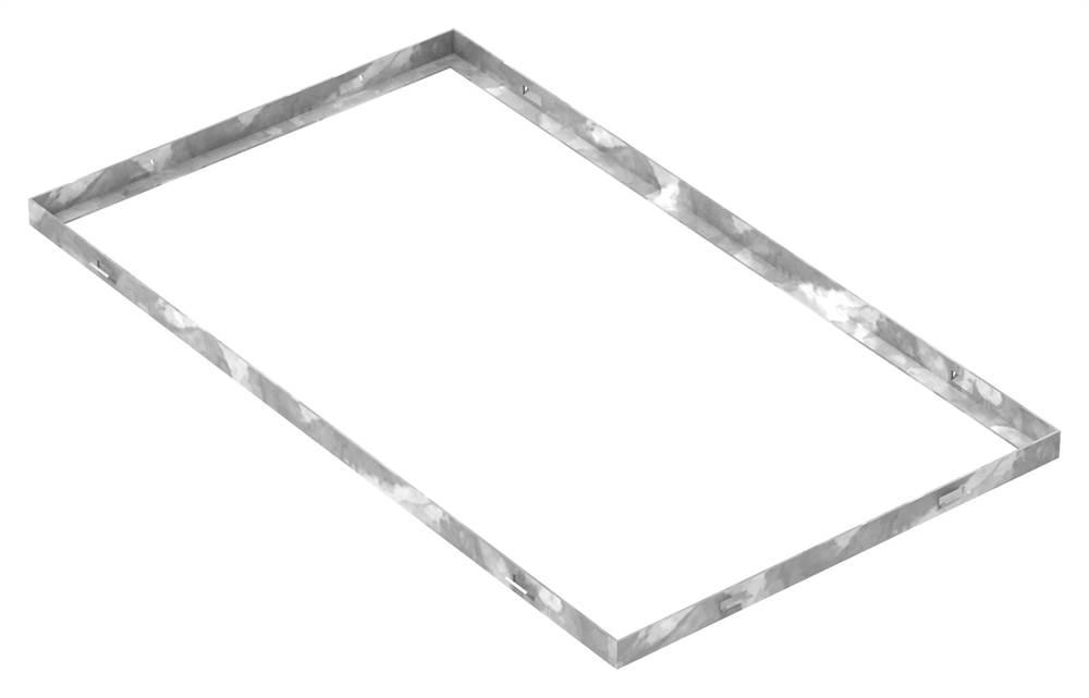 Zarge | Maße: 400x700x23 mm | für Rosthöhe 20 mm | aus S235JR (St37-2), bandverzinkt