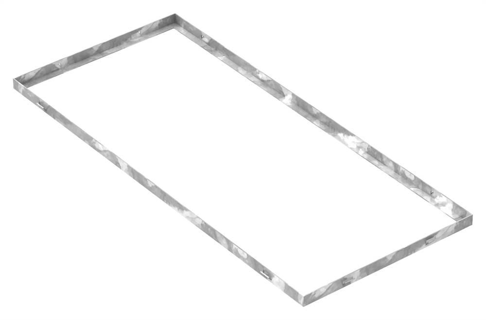 Zarge | Maße: 400x900x23 mm | für Rosthöhe 20 mm | aus S235JR (St37-2), bandverzinkt