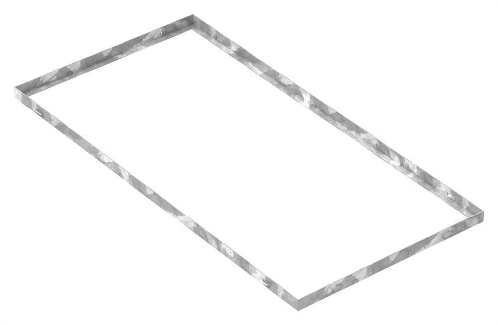 Zarge | Maße: 500x1000x28 mm | für Rosthöhe 25 mm | aus S235JR (St37-2), bandverzinkt