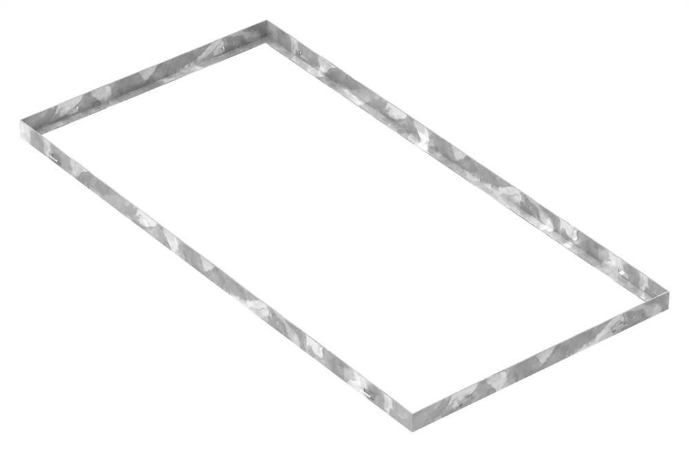 Zarge | Maße: 500x1000x33 mm | für Rosthöhe 30 mm | aus S235JR (St37-2), bandverzinkt