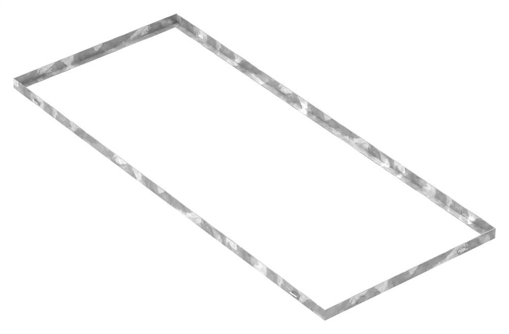 Zarge | Maße: 500x1200x28 mm | für Rosthöhe 25 mm | aus S235JR (St37-2), bandverzinkt
