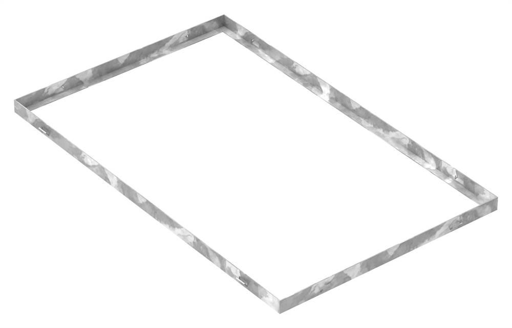 Zarge | Maße: 500x800x28 mm | für Rosthöhe 25 mm | aus S235JR (St37-2), bandverzinkt