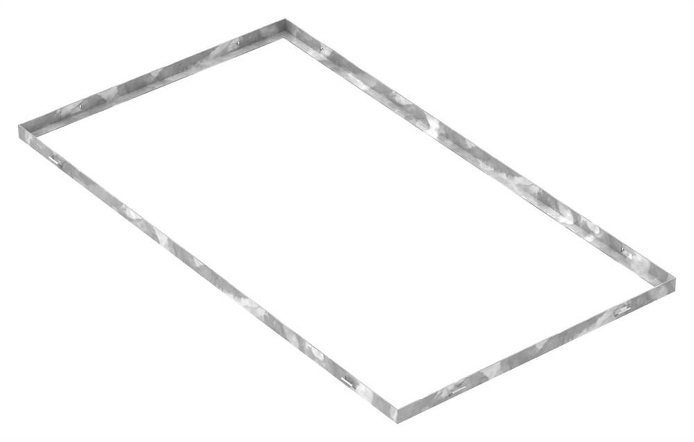 Zarge | Maße: 500x900x23 mm | für Rosthöhe 20 mm | aus S235JR (St37-2), bandverzinkt