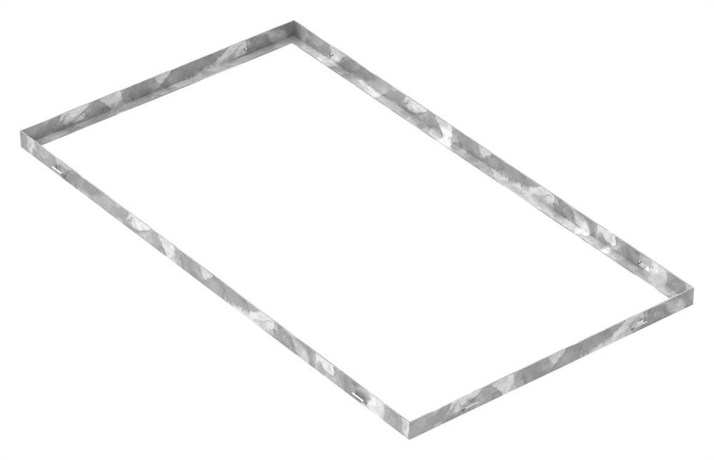 Zarge | Maße: 500x900x28 mm | für Rosthöhe 25 mm | aus S235JR (St37-2), bandverzinkt