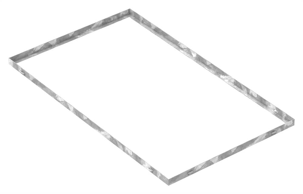 Zarge | Maße: 600x1000x28 mm | für Rosthöhe 25 mm | aus S235JR (St37-2), bandverzinkt