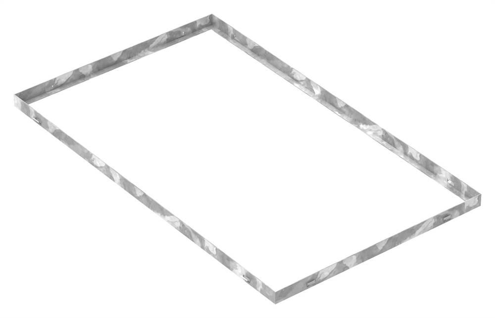 Zarge | Maße: 600x1000x33 mm | für Rosthöhe 30 mm | aus S235JR (St37-2), bandverzinkt