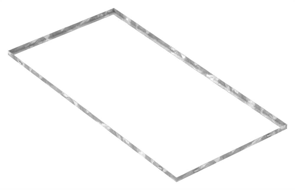 Zarge | Maße: 600x1200x23 mm | für Rosthöhe 20 mm | aus S235JR (St37-2), bandverzinkt