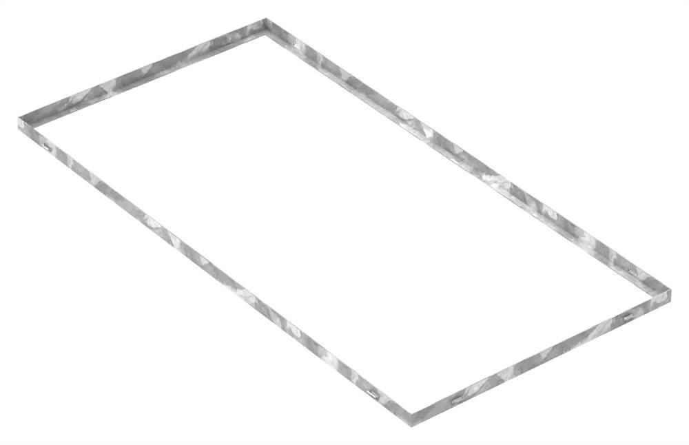 Zarge | Maße: 600x1200x28 mm | für Rosthöhe 25 mm | aus S235JR (St37-2), bandverzinkt