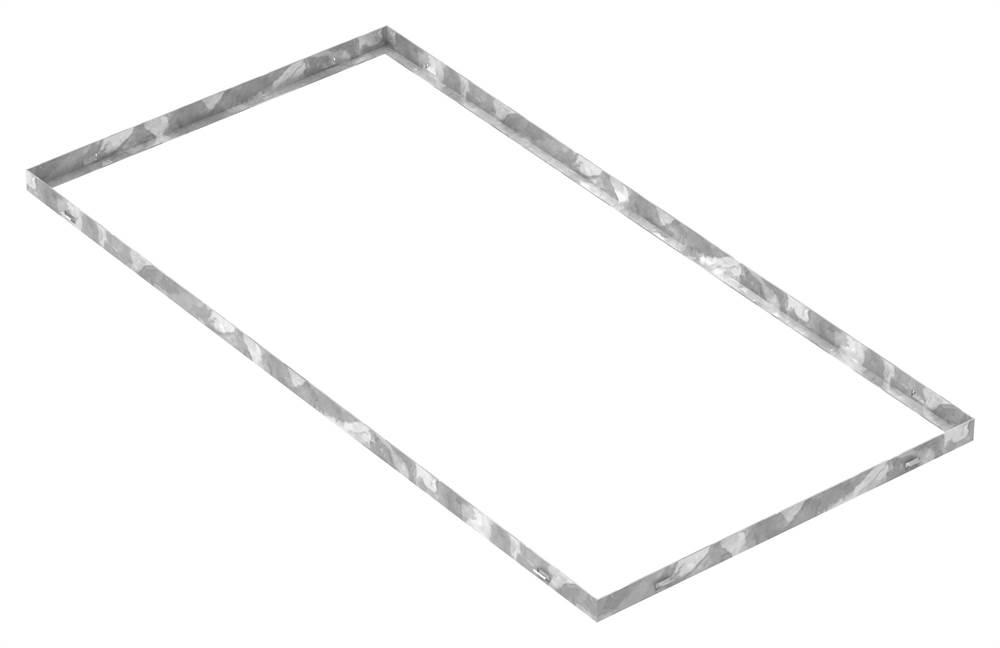 Zarge | Maße: 600x1200x33 mm | für Rosthöhe 30 mm | aus S235JR (St37-2), bandverzinkt