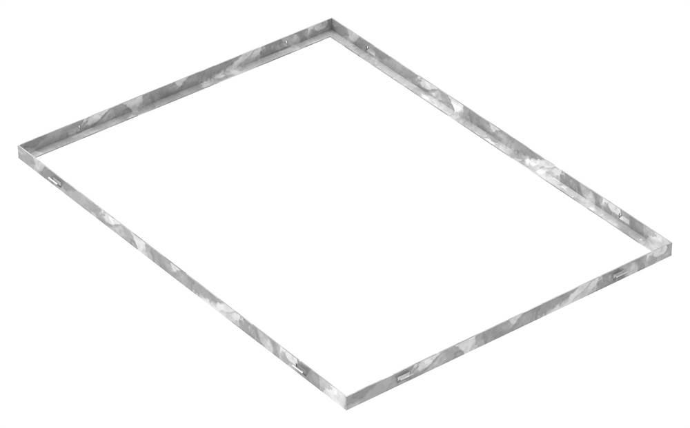 Zarge | Maße: 600x800x23 mm | für Rosthöhe 20 mm | aus S235JR (St37-2), bandverzinkt