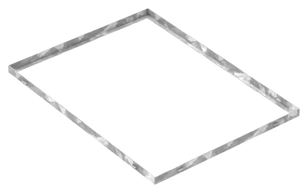 Zarge | Maße: 600x800x28 mm | für Rosthöhe 25 mm | aus S235JR (St37-2), bandverzinkt