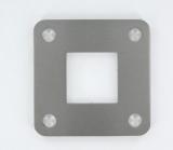Flansch 92x92x6 mm für Quadratrohr 40x40 mm V2A