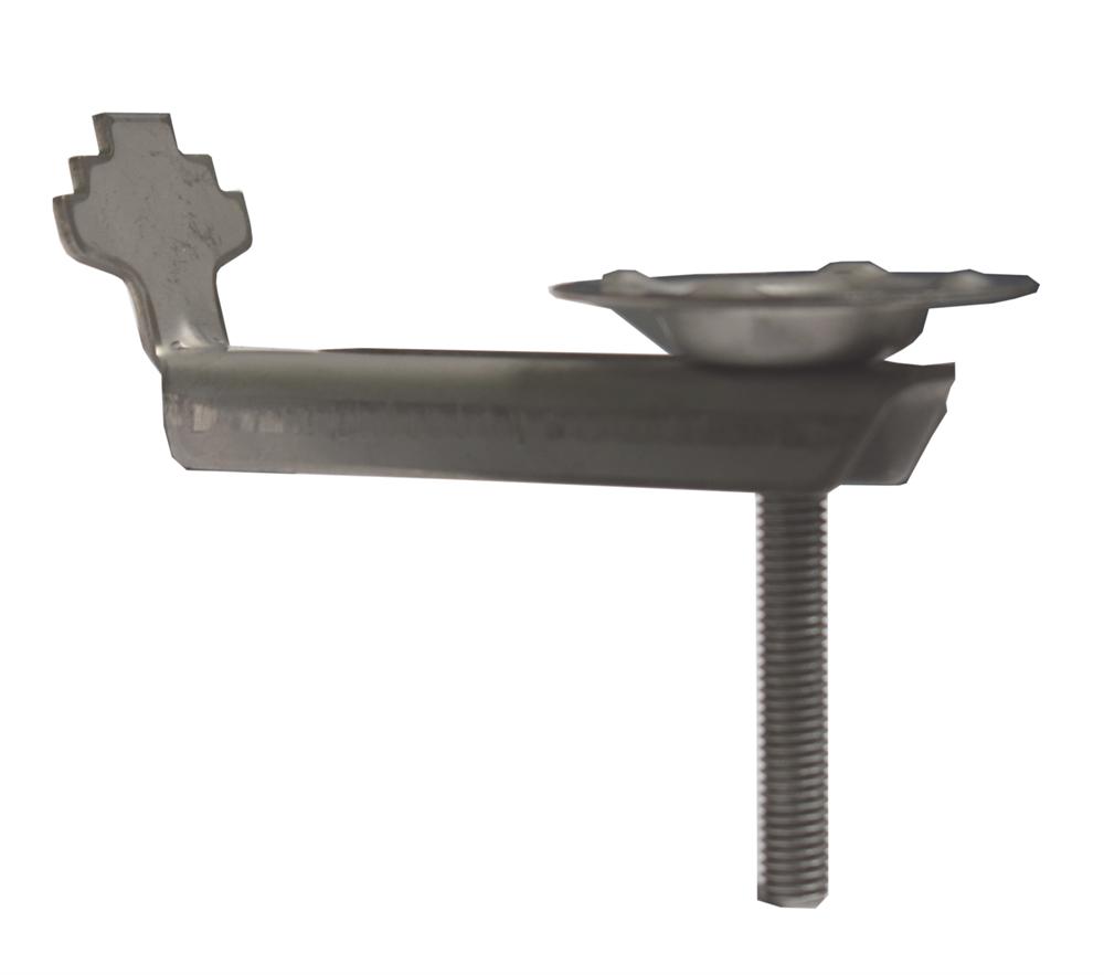 Gitterrost-Klemme   mit Teller   Rosthöhe 30mm   MW: (30 mm / 30 mm)    V2A / A2 – gebeizt