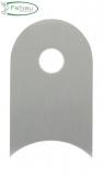 Anschweißlasche V2A 50x30x4 mm mit Rundloch 9 mm für Ø 42,4 mm