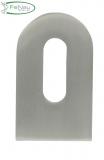 Anschweißlasche 50x30x6 mm V2A roh mit Langloch für Anschluss flach/gerade