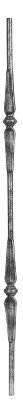 Zierstab | Länge: 900 mm | Material: Ø14 mm glatt | Stahl S235JR, roh