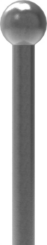 Zaunstab   Länge: 1000 mm   Material Ø 12 mm + Kugel Ø 25 mm   Stahl S235JR, roh