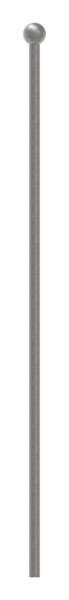 Zaunstab   Länge: 600 mm   Material Ø 12 mm + Kugel Ø 25 mm   Stahl S235JR, roh