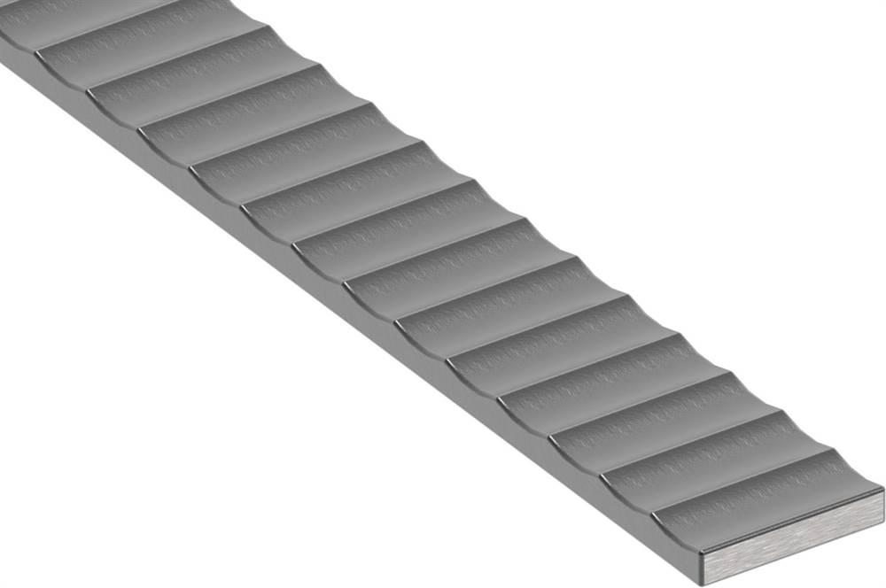 Handlauf   Maße: 40x8 mm   Länge: 6000 mm   Stahl (Roh) S235JR