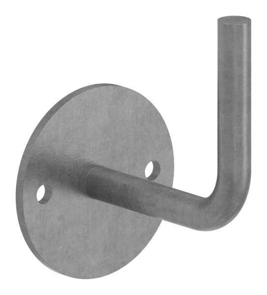 Handlaufhalter   mit Ronde 70x4 mm   zum Anschweißen   Stahl S235JR, roh