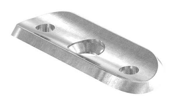 Halteplatte   64x24x4 mm   für Rundrohr Ø 33,7 mm   Stahl S235JR, roh