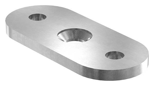 Halteplatte   64x24x4 mm   für Vierkant/flach   Stahl S235JR, roh