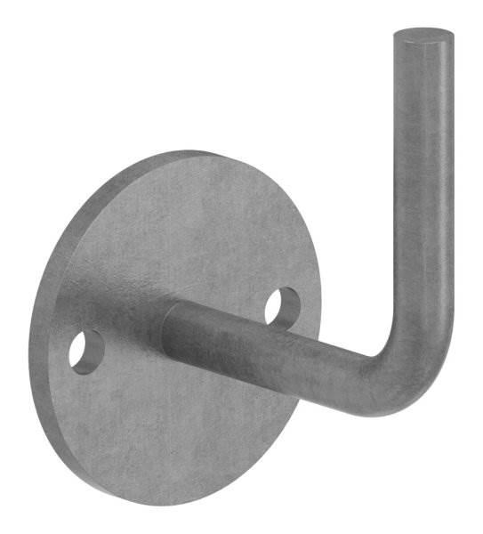 Handlaufhalter   mit Ronde 70x6 mm   zum Anschweißen   Stahl S235JR, roh