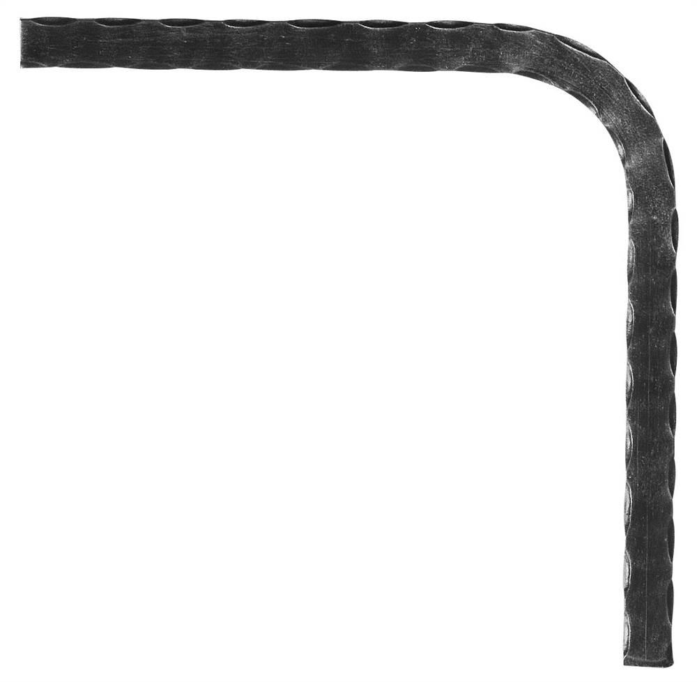 Untergurt-Bogen 90° | Material: 25x8 mm | gehämmert | Stahl (Roh) S235JR