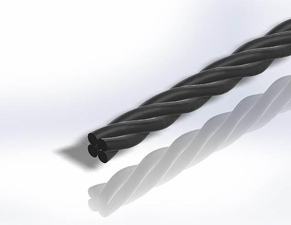 Gereeperter Handlauf | Material: Ø 40 mm | Länge: 2700 mm | Stahl (Roh) S235JR