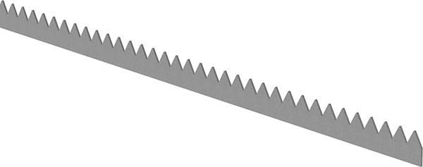 Zackenleiste   Länge: 2000 mm   Material: 3 mm   Stahl S235JR, roh