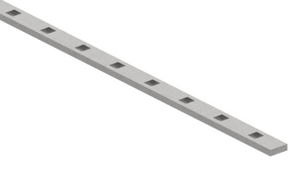 Gestanzte Stange | Maße: 25x8 mm | Länge: 3000 mm | Stahl S235JR, roh