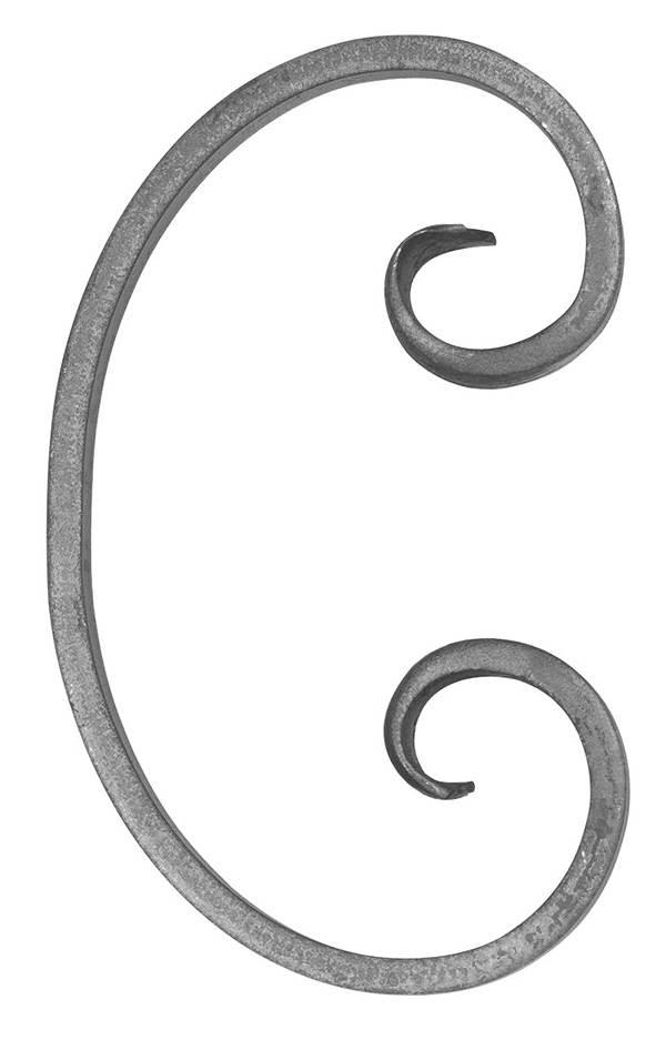 16er Serie | Maße: 205x120 mm | Material: 16x8 mm, glatt | Stahl S235JR, roh