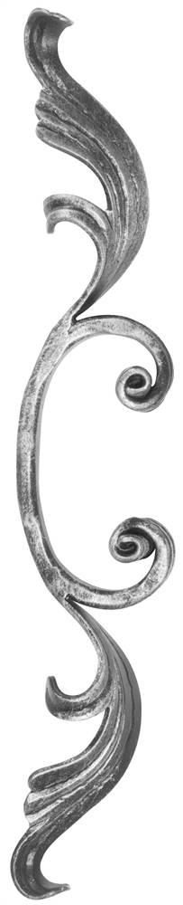Meisterbarock   Maße: 90x340 mm   Material: 16x8 mm   Stahl S235JR, roh