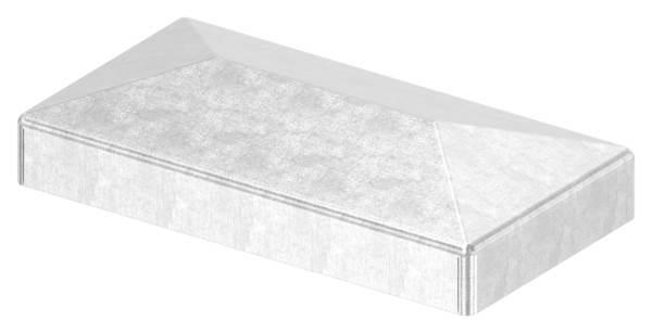 Pfeilerbedecker | für Rechteckrohr | Maße: 60x30 mm | Stahl S235JR, roh