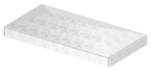 Pfeilerbedecker | für Rechteckrohr | Maße: 100x50 mm | Stahl S235JR, roh