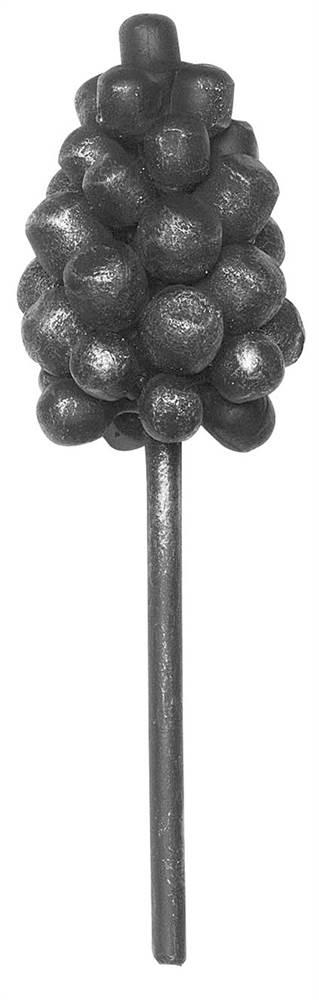 Weintraube | Maße: 75x100 mm | Material: Ø 8 mm | Stahl S235JR, roh