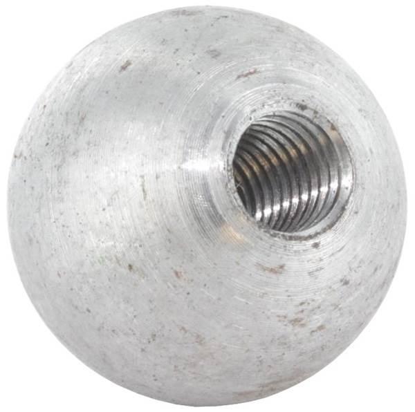 Kugel Ø 20 mm   massiv glatt   mit Gewinde M6   Stahl S235JR, roh