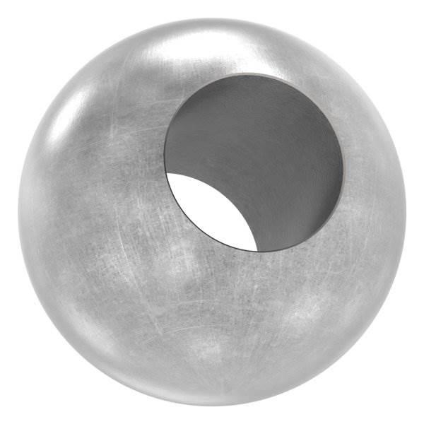 Kugel Ø 30 mm   mit Durchgangsbohrung 14,2 mm   Stahl S235JR, roh