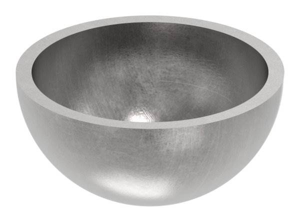 Halbhohlkugel Ø 33 mm   glatt   Stahl S235JR, roh